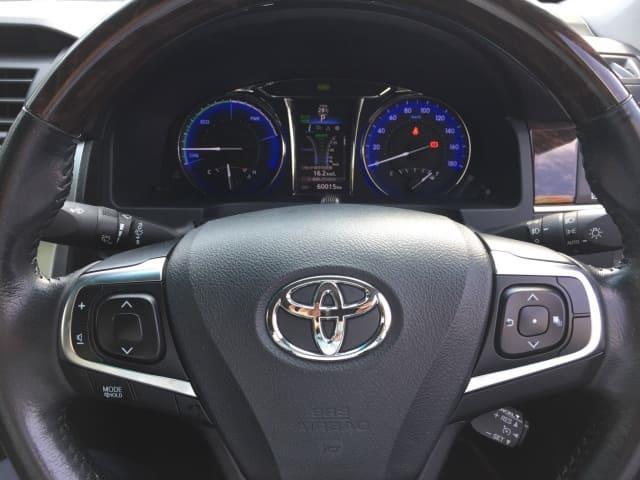 H27(2015年式) トヨタ カムリ ハイブリット Gパッケージ プレミアムブラック